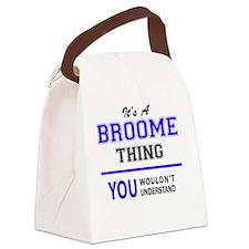 Unique Broom Canvas Lunch Bag
