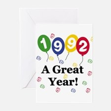 1992 A Great Year Greeting Cards (Pk of 10)