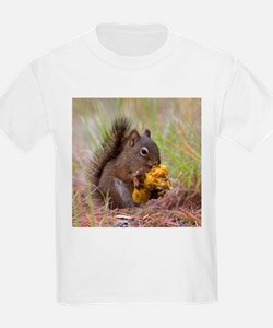 Happy Squirrel & Prized Mushroom T-Shirt