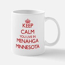 Keep calm you live in Menahga Minnesota Mugs