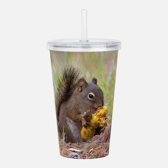 Happy Squirrel & Prize Acrylic Double-wall Tumbler