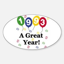 1993 A Great Year Oval Decal