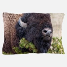 Christmas Bison Pillow Case