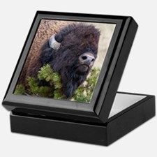 Christmas Bison Keepsake Box