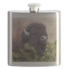 Christmas Bison Flask