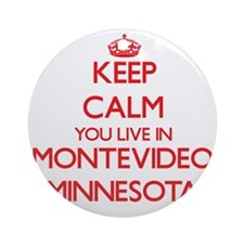 Keep calm you live in Montevideo Ornament (Round)