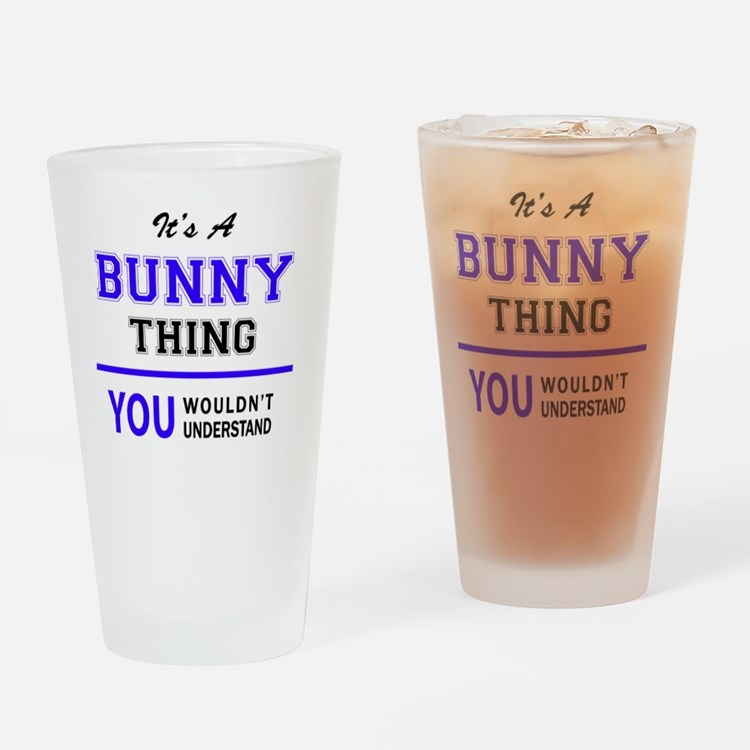 Cute Bunny Drinking Glass