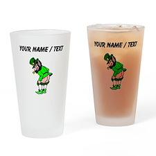 Custom Leprechaun Mooning Drinking Glass