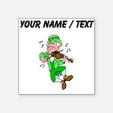 Custom Leprechaun Playing Fiddle Sticker