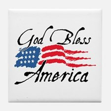 God Bless America v2 Tile Coaster