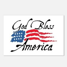 God Bless America v2 Postcards (Package of 8)