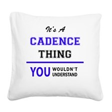 Cute Cadence Square Canvas Pillow