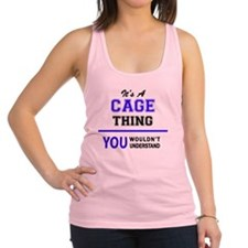 Funny Cage Racerback Tank Top