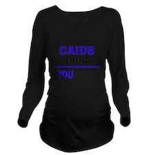 Cute Caius Long Sleeve Maternity T-Shirt