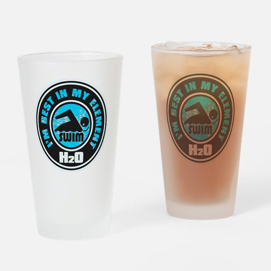 H2O_SWIMMER Drinking Glass