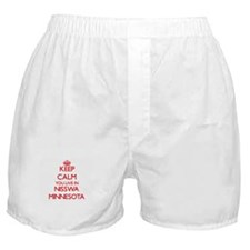 Keep calm you live in Nisswa Minnesot Boxer Shorts