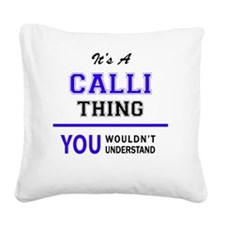 Unique Callie Square Canvas Pillow