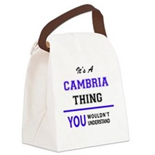 Cute Cambria Canvas Lunch Bag
