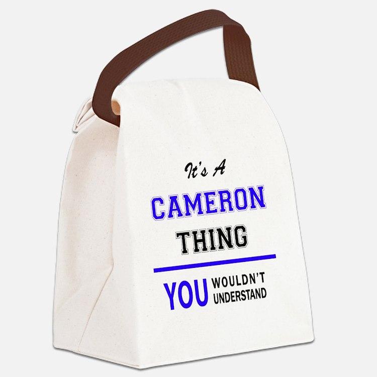 Cute Cameron Canvas Lunch Bag