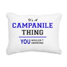 Cute Campanile Rectangular Canvas Pillow