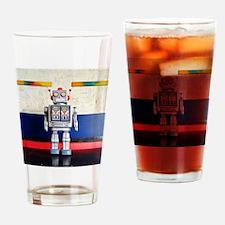 Cute Robot coffee Drinking Glass