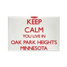 Keep calm you live in Oak Park Heights Min Magnets