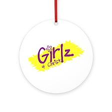 Girlz 4 Christ (Purple and Yellow) Ornament (Round