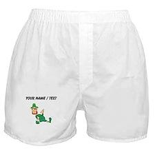Custom Leprechaun Cartoon Boxer Shorts