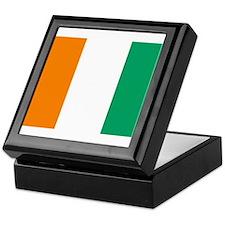 Cote D'Ivoire Flag Keepsake Box