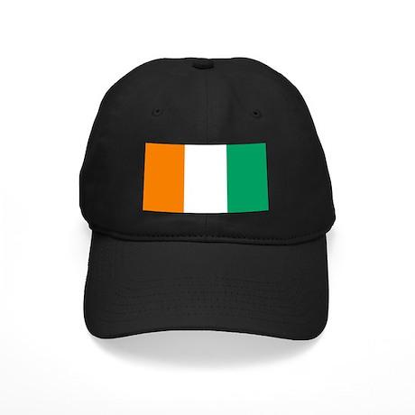 Cote D'Ivoire Flag Black Cap