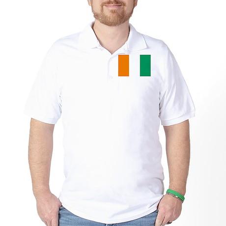 Cote D'Ivoire Flag Golf Shirt