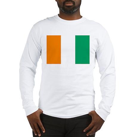 Cote D'Ivoire Flag Long Sleeve T-Shirt
