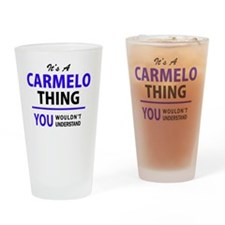 Cute Carmelo Drinking Glass