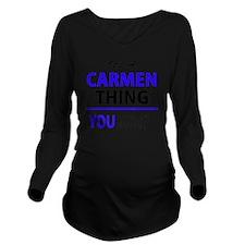 Cute Carmen Long Sleeve Maternity T-Shirt