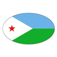 Djibouti Flag Oval Decal