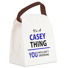 Cute Casey Canvas Lunch Bag