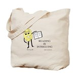 Reading Is Intriguing Phil the Pill tote bag