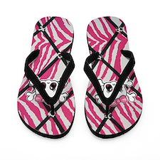 Cute Pink plaid Flip Flops