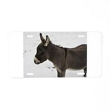 Miniature Donkey III Aluminum License Plate
