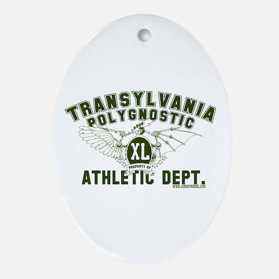 TPU Athletic Dept Ornament (Oval)