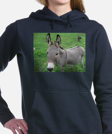 Miniature Donkey Women's Hooded Sweatshirt