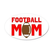 FOOTBALL MOM Oval Car Magnet