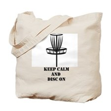 Keep Calm and Disc On Tote Bag
