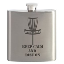 Keep Calm and Disc On Flask