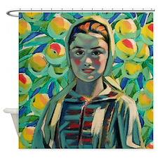 Peasant Girl Shower Curtain
