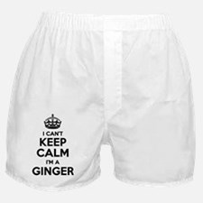 Cute Keep calm and ginger on Boxer Shorts