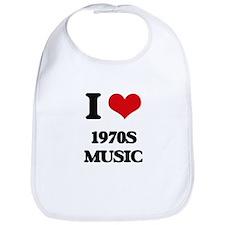 I Love 1970S MUSIC Bib