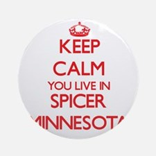 Keep calm you live in Spicer Minn Ornament (Round)
