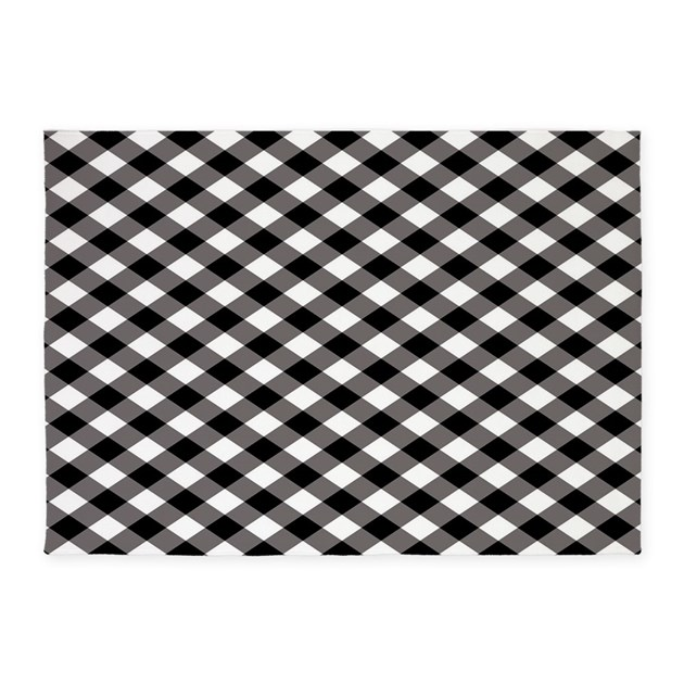 Plaid Rug: Black Plaid 5'x7'Area Rug By ADMIN_CP45838988