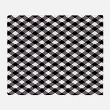 Black Plaid Throw Blanket